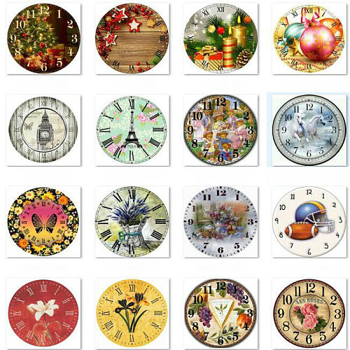 5D Diamond painting cross stitch wall clock flowers animal 3d diamond embroidery rhinestone mosaic home decoration 40x40cm