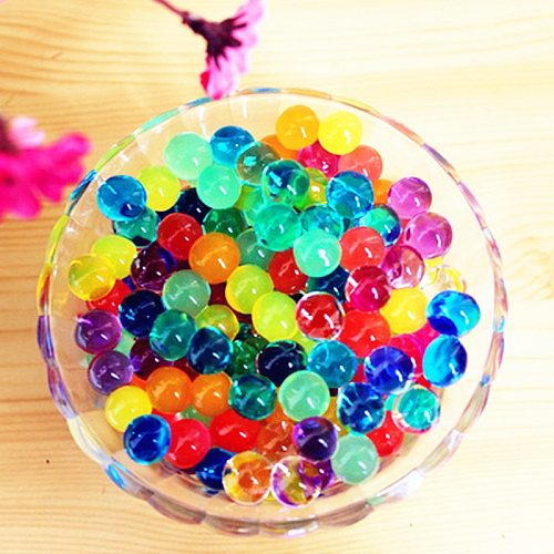 100pcs Crystal Soil Water Beads Paintball Mud Grow Magic Jelly Hydrogel Balls Wedding Home Plant Wedding Decoration for Flowers