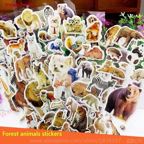 6Pcs/Lot Grassland Horse wall sticker Animal Horse DIY Bubble Sticker For Kids Enlightenment educational decoration Toy Sticker