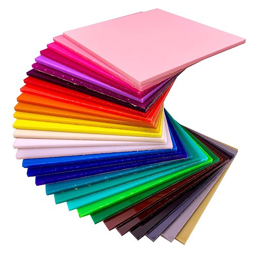 Acrylic (PMMA) Opaque 3.0mm Color Sheets for Jewelries, Crafts, Art Works, Decoration - 30 Colors/12 Sizes Available!