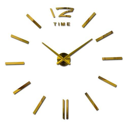 New Diy 3d Acrylic Mirror Large Home Decoration Clock Wall Clocks Horloge Watch Quartz Living Room Circular watches