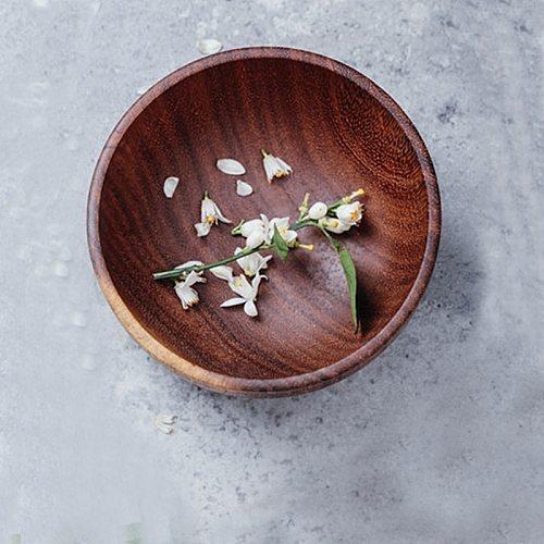 Kitchen Utensils Plates Wooden Salt Vinegar Flavor Spices Dish Dinner Breakfast Condiment Cup Kitchen Utensils Anti-Fall Seasoni