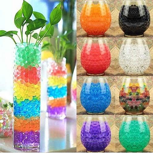 Z30 10000pcs Dropshipping Pearl Shaped Crystal Soil Water Beads Mud Grow Magic Jelly Ball Wedding Kids Children Toy Crystal Soil