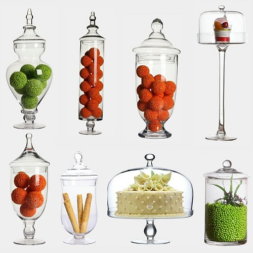 Transparent Glass dust-proof dessert candy jars  Glass bottles Crafts creative candy jars tea caddy Boxes storage jar