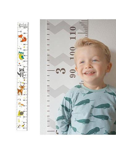Kids Meter Wall Chart  Baby Nursery Bedroom Decoration Hanging Height Growth Measuring Ruler