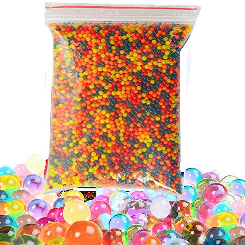 3000pc/pag Colorful Pearl Shaped Crystal Soil Water Beads Mud plant Grow Preserve moisture Hydrogel Jelly Balls Home Decor