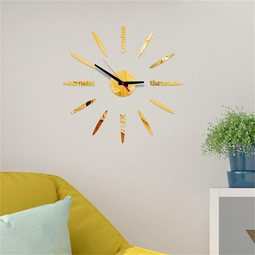 Frameless Diy Wall 3d Diy Roman Numbers Acrylic Mirror Wall Sticker Clock Home Decor Mural Decals Mirror Surface Sticker Home