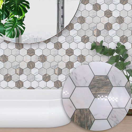 Funlife® Tile Sticker Wall Sticker Self-Adhesive Waterproof Decorative Oil Proof Easy to Clean Bathroom Kitchen Room Home Decor