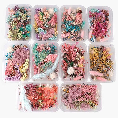 1 Box Dried Flower Dry Plants For Aromatherapy Candle Epoxy Resin Pendant Necklace Jewelry Making Craft DIY Accessories New