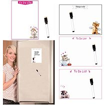 Dry Wipe Magnetic Whiteboard Fridge Magnets Marker Pen Writing Message Board Daily Week Planner To Do List Home Kitchen Decor