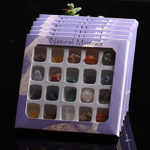 20 in 1 Combination Set Natural Gemstone Quartz Mineral Jewelry Modern Home Decoration Aquarium Stone Garden Decoration DIY Gift