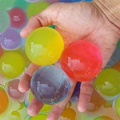 60pcs Big Soil Water Crystals Size 9-12mm Home Decor Pearl Shaped Big Crystal Soil Water Beads Water Crystals Soil
