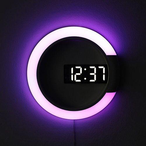 3D LED Digital Wall Clock Alarm Mirror Hollow Watch Table Clock 7 Colors Temperature Nightlight For Home Living Room Decorations