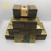 Wholesale 1000-10000 pcs Rhinoceros one hundred Quintillion Dollars Zimbabwe 24K Gold Banknote for souvenir and collection gifts
