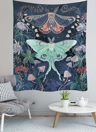 Room Decor Tapestry Mandala  Wall Decor Butterfly Tapestries Home Decor Boho Decor Witchcraft Tapestry
