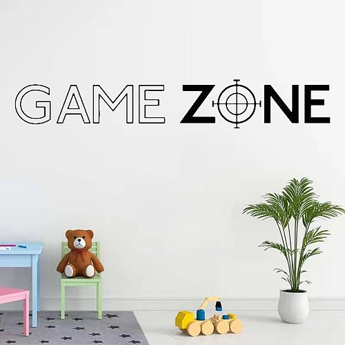Game Zone Play PS3 PS4 Quote Wall Art Stickers Decals Door Decor Home Decoration Vinyl Mural Gamer Decal Bedroom