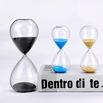Hourglass timer transparent glass 5/30 minutes hourglass multiple colors home car decoration ornament clock holiday gift