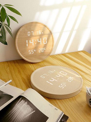 LED luminous electronic clocks living room home fashion creative Nordic light luxury simple wall clock