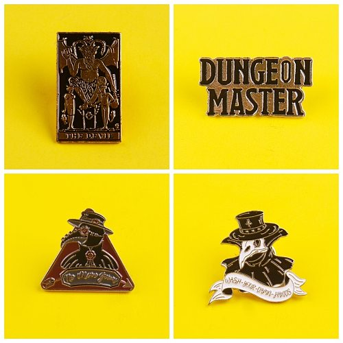 Punk Pin Metal Badges For Clothes Doctor Schnabel Icon On The Backpack Set Snake Dungeon Master Enamel Pin Jewelry Gift Brooche