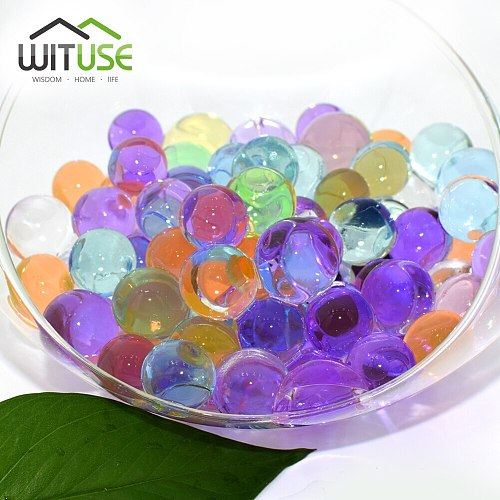 10g Hydrogel Balls Growing Water balls Bead Jelly Beads Grow Water Balls Wedding Home Decor Potted Crystal Soil Jelly Beads