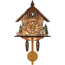 Spot Wall Clock Cuckoo Time Alarm Clock Nordic Retro Clock Wooden Living Room Clock
