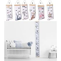 Baby Growth Chart Canvas Wall Hanging Measuring Rulers for Kids Boys Girls Room Decoration Nursery Removable Height and Growth 8