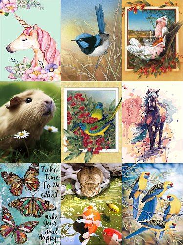 5d Diy Diamond Painting Animal Embroidery Cross Stitch Mosaic Home Decoration Sticker Handmade New Year Wall Sticker