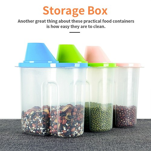 1.9/2.5L PP Food Storage Box Plastic Sealpot Container Pantry Organizer Bottle Kitchen Food Organizer Jar with Seal Silicone Lid