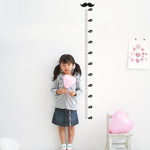 Cartoon Beard Height Measure Wall Sticker For Kids Rooms Growth Chart Nursery Room Decor Wall Art 2021 newest @45