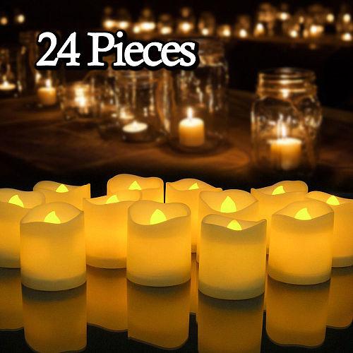6/24Pcs Flameless LED Candles Tea Light Creative Lamp Battery Powered Home Wedding Birthday Party Decoration Lighting Dropship