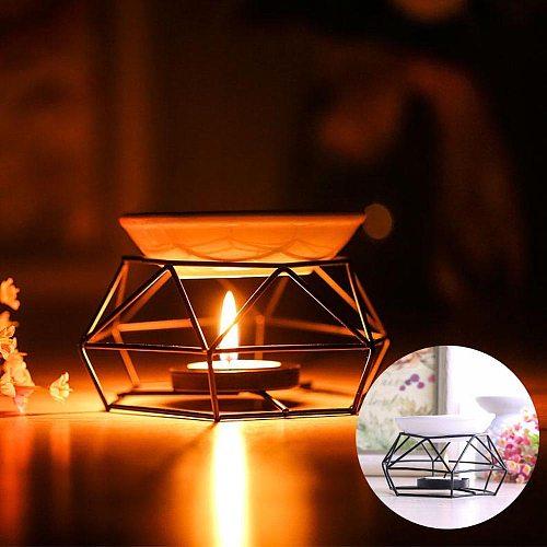 Stainless Steel Oil Burner Candle Aromatherapy Oil Lamp Home Decorations Aroma  decoración de habitación декор для комнаты