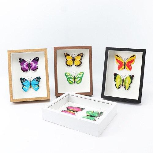 3D Hollow Photo Frame Specimen Wood Frame Butterfly Dragonfly Dry Flower Frame Home Decoration Gift