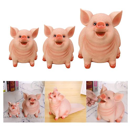 Piggy Bank Small Pig Money Box Pig FigurineHome Office Living Room Style 1