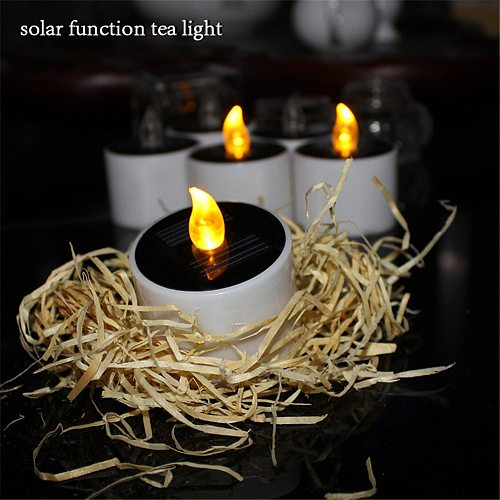 Waterproof Electric Candle Simulation Flameless Solar Powered LED Candle Light BOM666