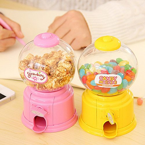 'The Best' Cute Sweet Mini Candy Machine Bubble Gumball Dispenser Coin Bank Kids Toys Children Gift 889