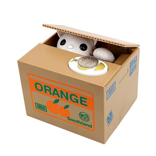 Cat Panda Stealing Coin Money Boxes Automatic Coin Piggy Bank Money Saving Box Coins Storage Box Children Kids Birthday Gifts