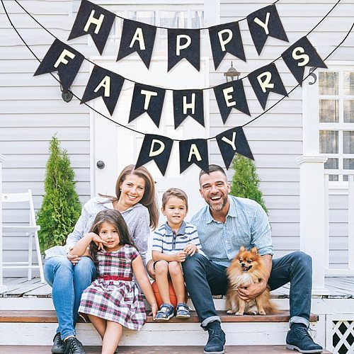 2021 Happy Father's Day Hanging Flag Best Papa Streamer Party Birthday Supplies Spiral Decoration Thanksgiving Day E83 84