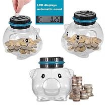 2021 New 1PC Electronic Digital LCD Counting Coin Money Saving Box Jar For USD EURO GBP Money Piggy Bank Counter Coin Boxes Hot