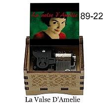 Wooden mechanical color print La Valse D'Amelie LA LA LAND Music Box girlfriend wife Birthday Gift For Christmas gifts