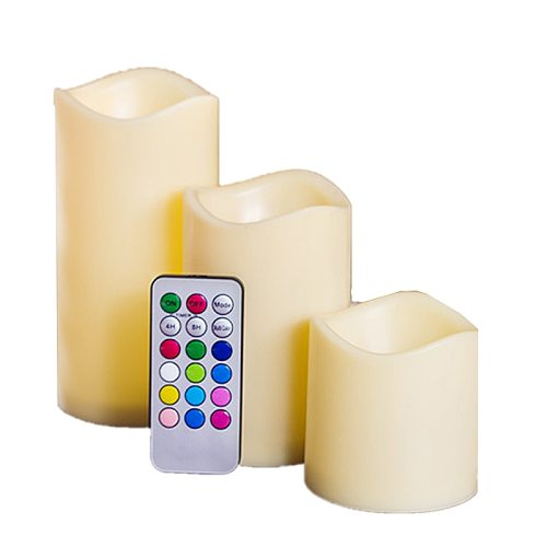 12 Colorful Led Candle Electronic Wax Flame Led Smokeless Candle Led Tea Light Party Decorative Fake Candles WIth Control