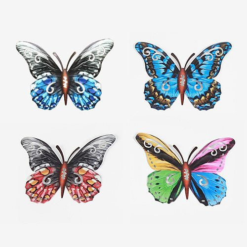 Home craft butterfly gift pendant iron wall hanging ornaments indoor and outdoor decorations bang dream  unicorn room decor