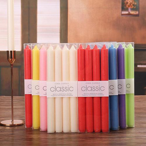 4pcs Home Candlestick Candles Colorful Spell Candles Magic Decorative Aromatic Candles Fulfilled Decor Party 1set N0Z4
