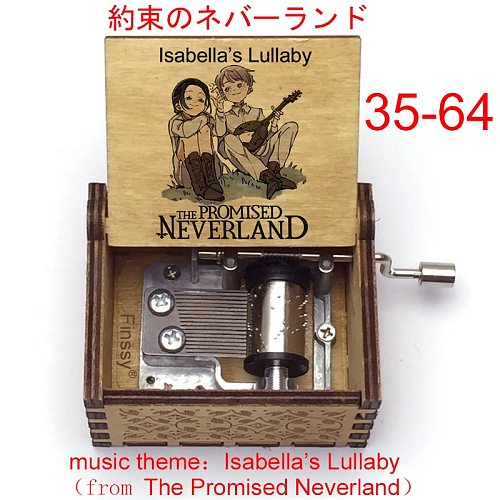 Isabella's Lullaby music song anime The Promised Neverland Music Box wood fans christmas new year gift office Decoration craft