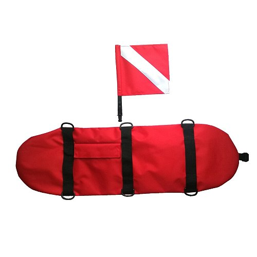 Diving Spearfishing Signal Float Buoy & Dive Flag Banner Swimming Free Diving Snorkeling Accessories Lighweight Inflatable Scuba