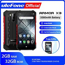 Ulefone Armor X3 ip68 Rugged Waterproof Smartphone Android 9.0  Telephone Superbattery Cell Phone 5.5 inch HD+2GB 32GB Phone