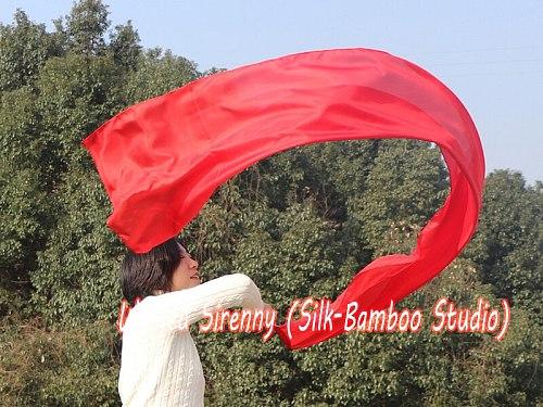 1 piece 2.5m*0.5m(98 *22 ) 6mm habotai silk red worship flag/banner, Acrylic rod