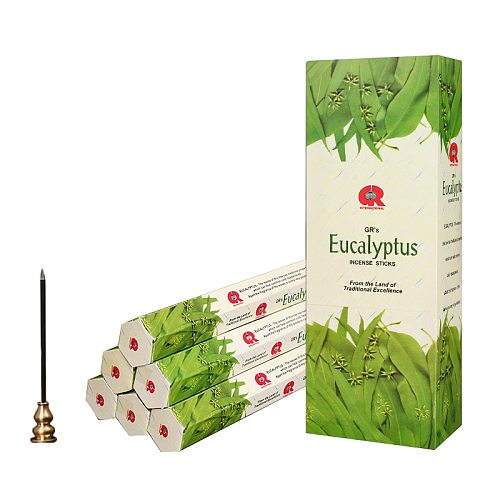 Eucalyptus Indian Incense Sticks Handmade High Quality Stick Incense Buddhist Accessories Bulk Gifts Not Include Incense Burner