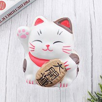 Ceramic Saving Pot Fortune Cat Shaped Money Box Creative Piggy Bank Coin Container