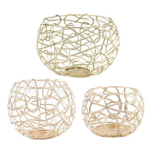Metal Hollow Candle Holders Modern Golden Candlestick Desktop Party Decor for Home Office Living Room Wedding Party Events