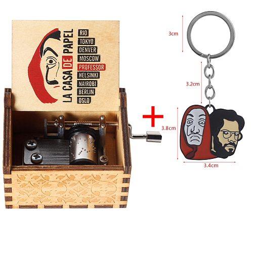 2020 Holiday Gift Decoration Movie Paper House La Casa De Papel Dali Theme Song Bella Ciao Movement Music Box Accessories